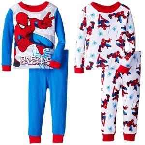 Marvel Little Boys' Spiderman 4-Piece Pajama Set